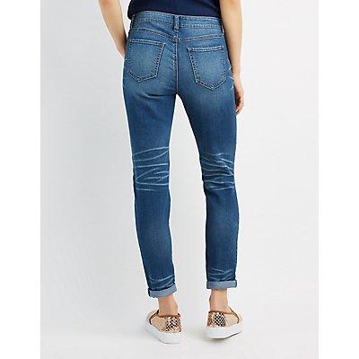 Destroyed Skinny Boyfriend Jeans