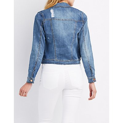 Refuge Distressed Denim Jacket