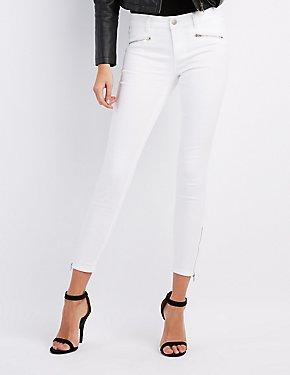 Refuge Skinny Ankle Zip Jeans