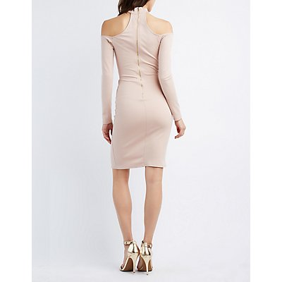 Choker Neck Cut-Out Dress