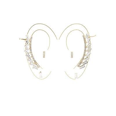 Embellished Ear Cuff & Stud Earrings Set