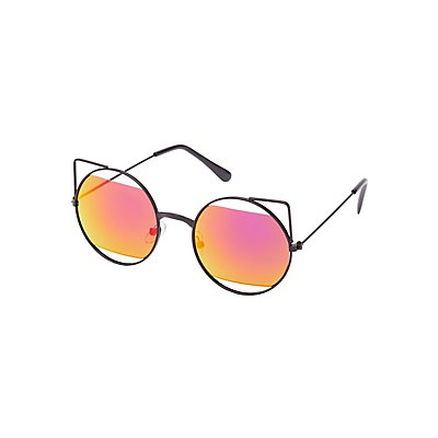 Cut-Out Cat Eye Sunglasses