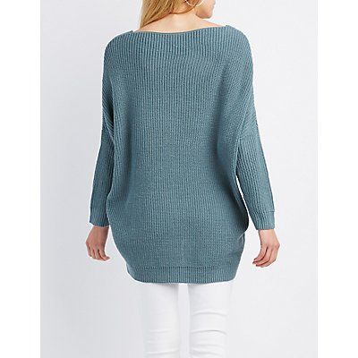 Pointelle V-Neck Sweater