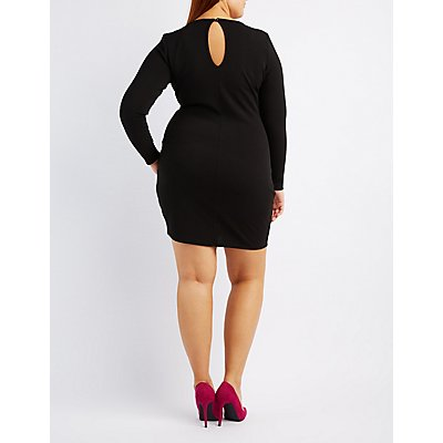 Plus Size Strappy Bodycon Dress