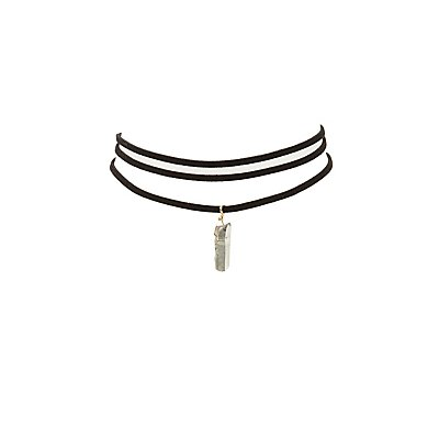 Faux Suede Choker Necklaces - 2 Pack