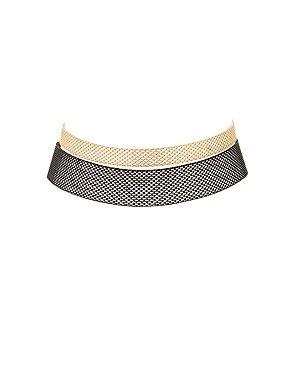 Plus Size Chainlink Choker Necklaces - 2 Pack