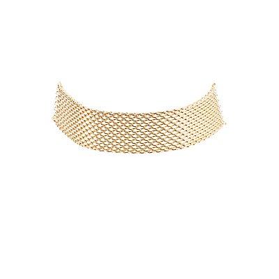 Plus Size Chainlink Choker Necklace