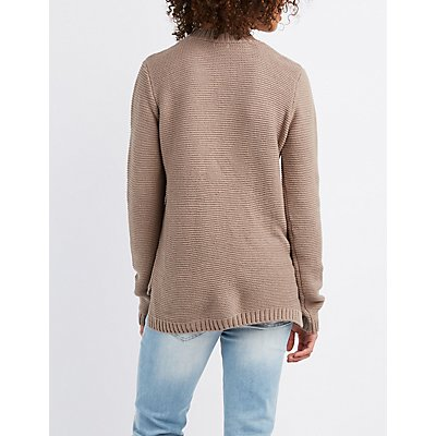 Mock Neck Cut-Out Sweater