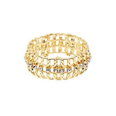 Embellished Stretch Cuff Bracelet