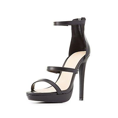 Three-Piece Platform Dress Sandals