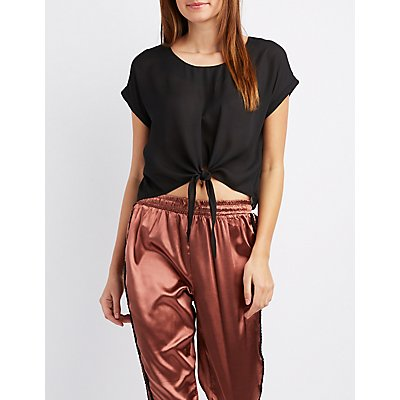Chiffon Tie-Front Top