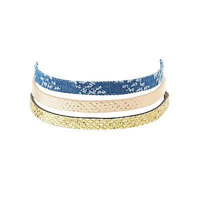 Trendy Choker Necklaces - 3 Pack