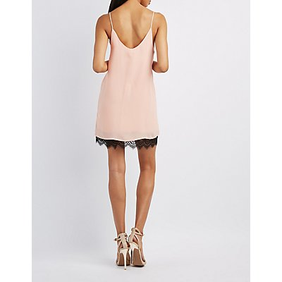 Lace-Hem Slip Dress