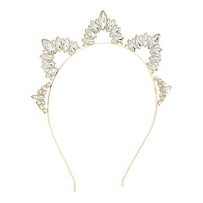 Faceted Stone Tiara Headband