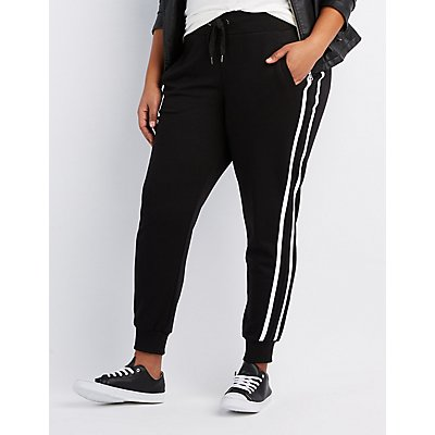 Plus Size Varsity Stripe Jogger Pants