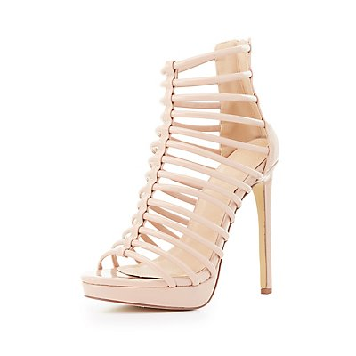 Caged Tubular Platform Sandals