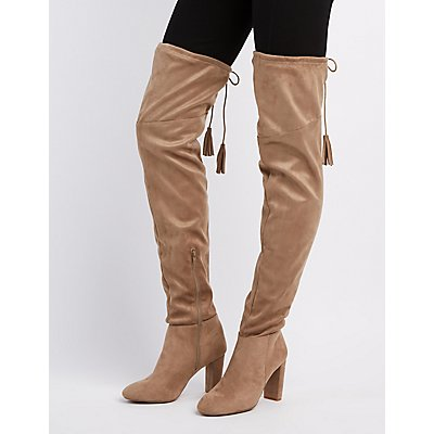 Qupid Tassel Over-The-Knee Boots