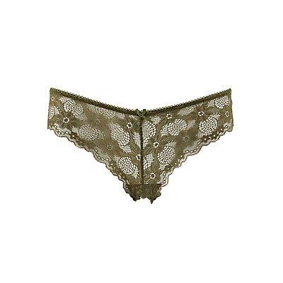 Sheer Lace Cheeky Panties