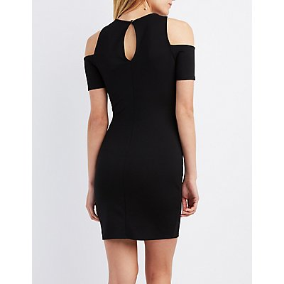 Cold Shoulder Cut-Out Bodycon Dress
