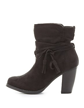 Tassel Tie Ankle Boots