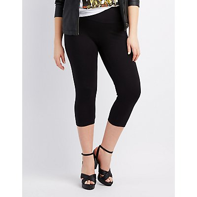 Plus Size High-Rise Cropped Leggings