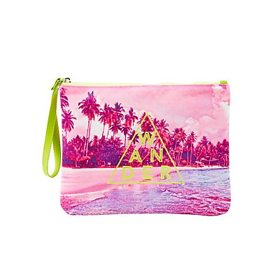 Wander Printed Zip Pouch