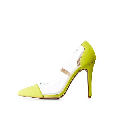 PVC Pointed Toe Pumps