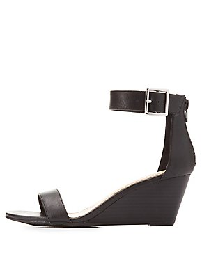 Wedge Ankle Strap Sandals