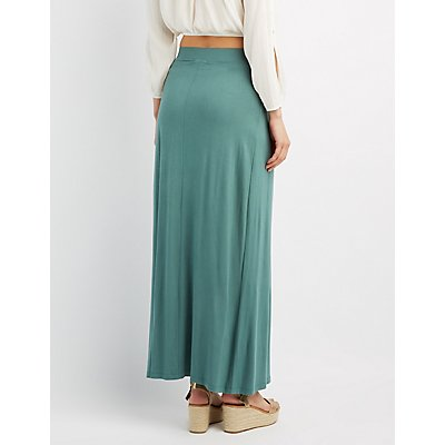 Wrap Slit Maxi Skirt