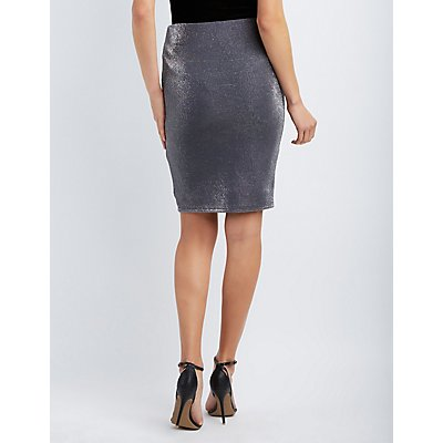 Shimmer Pencil Skirt