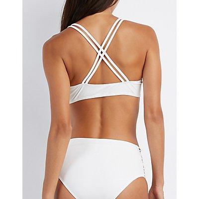 Strappy Lattice Bikini Top
