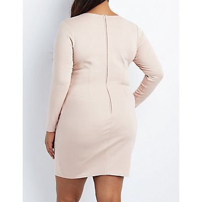 Plus Size Strappy Caged Bodycon Dress
