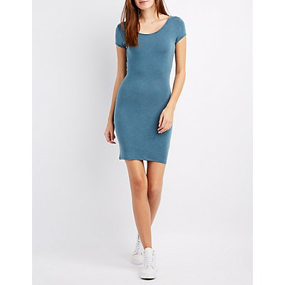 Twisted-Back Bodycon Dress