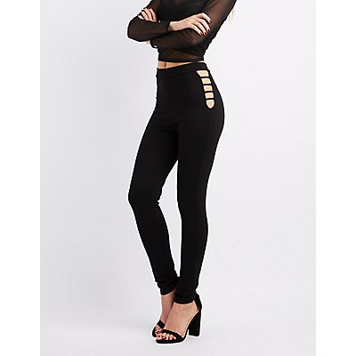 Caged High-Rise Ponte Leggings