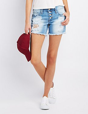Refuge Cut-Off Denim Shorts