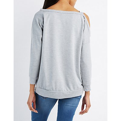 Asymmetrical Cut-Out Sweatshirt