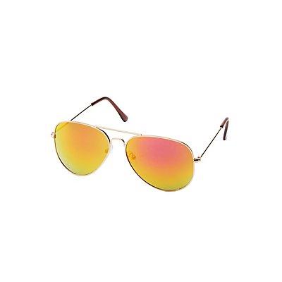 Reflective Aviator Sunglasses