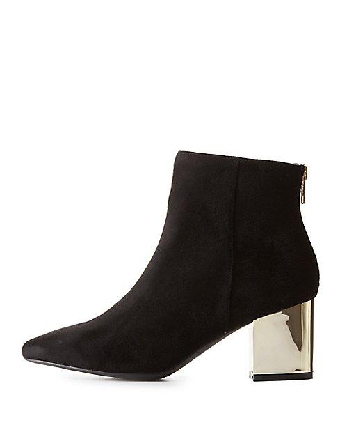 metallic heel ankle boots Discount 2018 New OGXx0deQa
