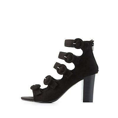 Wide Width Strappy Buckled Sandals