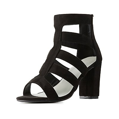 Wide Width Faux Suede Sandals