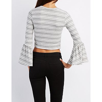 Striped Bell Sleeve Tee