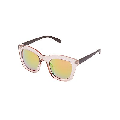 Clear Oversize Sunglasses