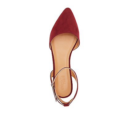 Open Back Pointed Toe Flats