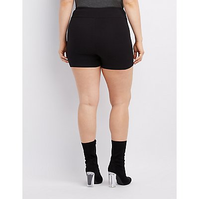 Plus Size High-Rise Bike Shorts