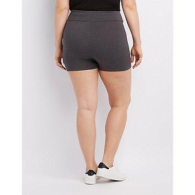 plus size high-rise bike shorts   charlotte russe
