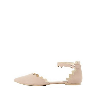 Scalloped Two-Piece Flats