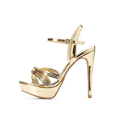 Metallic Platform Dress Sandals