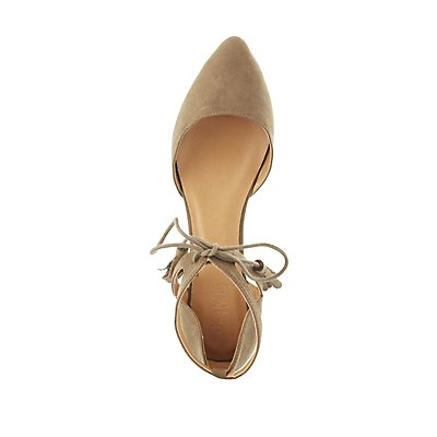 Caged Ankle Pointed Toe Flats