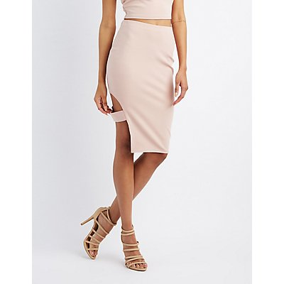 Caged Cut-Out Pencil Skirt