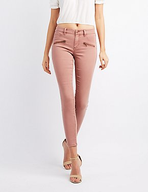 Refuge Zipper-Trim Skinny Jeans